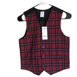 NWT Gymboree Boys Plaid Vest Size M Age 7-8 years